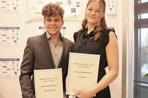Årets manliga och kvinnliga idrottare: Alexander Dahlin och Tove Hansen.