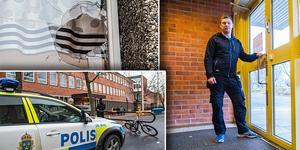 Efter förra veckans knivattack mot skolbyggnaden på Gärdet i Bollnäs togs beslutet att låsa alla entrédörrar.