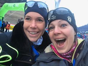 Ida Ryentorp och Teresa Bergkvist har inga problem med energinivån. Men så är de också experter på pepp, och delar gärna med sig av sina insikter. Foto: Privat.