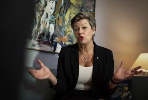 Arbetsmarknadsminister Ylva Johansson (S). Foto: Naina Helén Jåma/TT