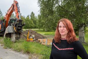 Ann–Charlotte Westin är mycket nöjd med att Alltank etablerar en tankstation i anslutning till Nätra motell och restaurang i Bjästa.