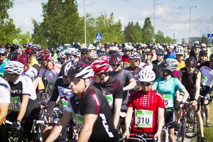 Jämthjulingen samlade många cyklister. Foto: Robert Henriksson