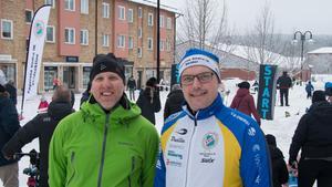 Håkan Lundman, butikschef på Ica, och Tommy Ringström, ledare i Fagersta Södra IK, var nöjda med arrangemanget.