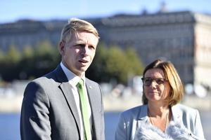 Språkrören Lövin och Bolund måste begrunda det egna partiets identitet. Foto: TT.