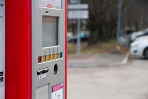 Vid lasarettet i Avesta finns två parkeringsautomater.