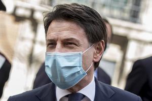 Det hårt coronadrabbade Italiens premiärminister Giuseppe Conte vill ha ett rejält stöd från EU för att hantera krisens ekonomiska effekter. Arkivbild.
