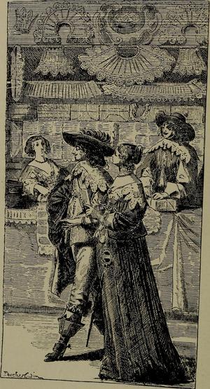 Nederländska shoppare ute och botaniserar bland varorna under sen 1600-tal. Bilden är tagen ur boken