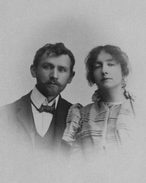 Dagny Juel med sin make Stanisław Przybyszewski. Foto: Okänd