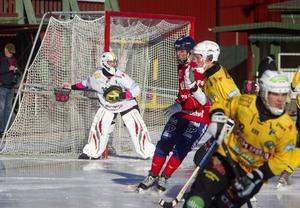 Max Bergström gjorde elitseriedebut i Brobergs mål.