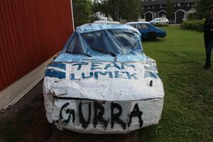 En bil som Gustaf Westerlund voltat med och som nu ska renoveras.