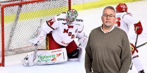 Modo Hockey gör en riktigt vass derbyinsats, men förlorade målvaktsmatchen, tycker sportens krönikör Per Hägglund. Bild: Josefine Loftenius/Bildbyrån