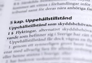 Lagen om uppehållstillstånd, Sveriges lag. Foto: Janerik Henriksson / TT /