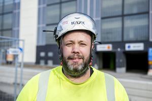Jonas Norell, 39 år, anläggningsarbetare, Kvissleby.