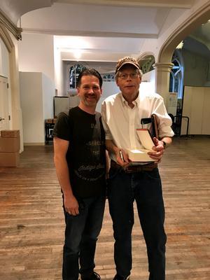 Hans-Åke Lilja och Stephen King. Foto: Privat