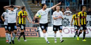 Agon Mehmeti har gjort flera bra inhopp. Det enda målet kom i förlustmatchen mot BK Häcken på Behrn arena i augusti.