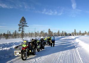 Vinterväglaget var fantastiskt och resan bjöd på många vackra vyer. Med en del