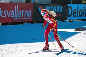 Malva Nisén, Svegs IK, vann sin klass i Lilla Fjälltopploppet. Foto:Åke Remén.