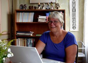 Eva Engström sitter i styrelsen i Ragunda hembygdsförening och ansvarar för släktforskarkollot.