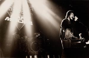 Gary Moore uppträder i Manchester 1985. Foto:  Harry Potts