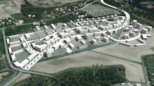 Här har kommunen planerat för ett nytt bostadsområde med 800 bostäder. En väg ska gå genom området och sedan ansluta till Stortorpsvägen.