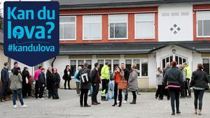 Skolan i Stora Vika lades ned 2017. De politiska partierna lovar att den negativa utvecklingen i Stora Vika ska vändas under nästa mandatperiod. Foto: Solveig S Thörnblom