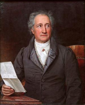 Johann Wolfgang von Goethe 1828. Målning av Joseph Karl Stieler.