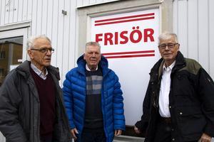 Sven Lindström, Freddy Klaffmo och Leif Jonsson i den ekonomiska förening som ska driva salongen.