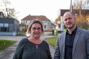 Karin Jansson, här fotograferad tillsammans med Magnus Svensson (C), vill att Region Gävleborg ska vara en klimatförebild.