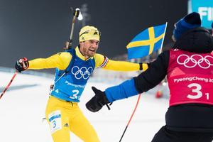 OS-guld i stafetten! Bild: Carl Sandin/Bildbyrån