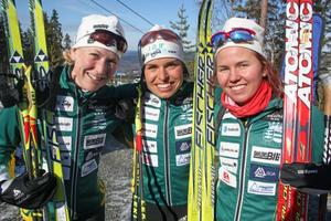 Helena Ekholm var I 21 IF trogen under hela sin karriär. Här en bild från SM i Sollefteå där I 21 IF med Helena, Elisabeth Högberg och Marielle Molander vann stafetten. Foto: Arkiv