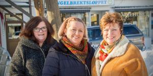 Åsa Backström från Strands blommor, Pia Emet från Pias skattkammare och Mirjam Ekebom från Glädjehuset satsar alla inför årets Engelbrektshelg.