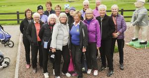 50-års jubilarerna på Gävle golfbana. Foto Tord Westlund