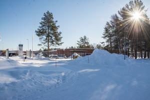 Här, på kommunens område på Hyggesvägen 15 i Östersund, föreslås det nya växthuset att uppföras.
