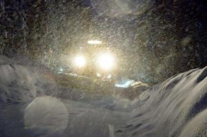 Åke tyckte att snöovädret den 1 februari var det värsta denna vinter.