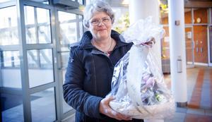 Karin Larsson, glad vinnare av Bostadspuls tävling.