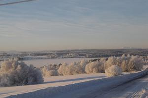 Vy mot Åreskutan i minus 29 grader! Foto: Åke Andersson