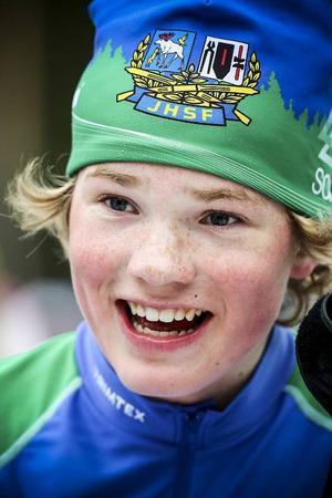 Måns Ohlsson såg glad och nöjd ut efter målgången i H15.