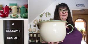 Det började med en potta. Nu har Gunilla Josefsson i Bomhus en av Sveriges största samlingar av Kockumsföremål.
