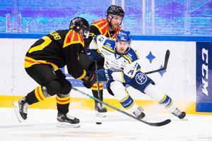 Oskar Lang visade upp stort spel mot Brynäs. Foto: Daniel Eriksson/Bildbyrån