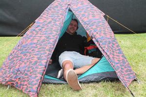 Norrmannen har gjort sig hemmastadd på Peace & Loves camping.