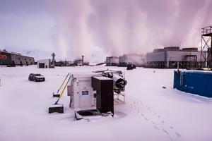 På Island finns det en CO2-sug som gör sten av koldioxid. Koldioxidsugen är på värmeverket Hellisheidi. Bakom tekniken står ett schweiziskt företag som testar anläggningar i flera europeiska länder. Foto: Magnus Hjalmarson Neideman / SvD / TT.