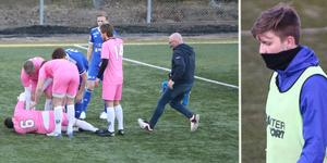Ruben Skoglund skadade sig i vårens derby mellan Rådmansö och Rimbo