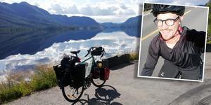 Flera har undrat om Adrian Forsgren har förlorat ett vad som cyklar från Uppsala till Nordkap i Norge.