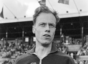 Svenske medeldistanslöparen Dan Waern på en bild från slutet av 50-talet. Foto: TT