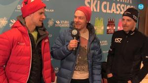 Oskar Kardin, Mittmedias Jonas Brännmyr och Anton Karlsson.