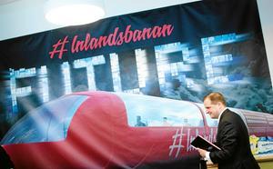 Höjd hastighet på Inlandsbanan kräver uppgradering i linje med de utredningar som för närvarande pågår om en framtida miljardsatsning. Då skulle resandetiden minska med cirka 2 timmar och 15 minuter mellan Östersund-Mora, enligt Trafikverkets utredning. Foto: Emma Simonsson