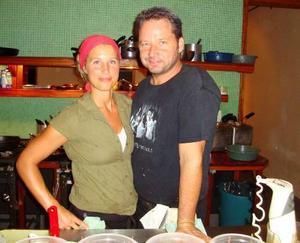 Karin Andersson och Anders Dahlbom med pannbiff på menyn.
