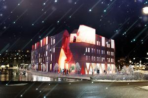 Fastighetens struktur som i dag ligger som förslag. Illustration: Mondo arkitekter