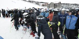 Cirka 350 deltagare tävlade i alpina USM i Funäsdalen.