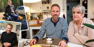 Erik Andersson mår bäst med klar och tydlig kontinuitet. Till höger, hans pappa Kent Andersson och mamma Carina Andersson.
